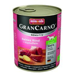 800g Animonda GranCarno Sensitiv Adult (marha,burgonya) konzerv - Felnőtt kutyák részére