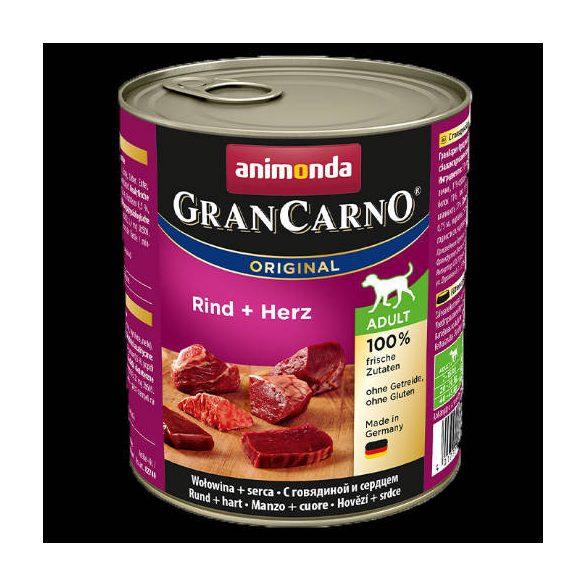 800g Animonda GranCarno Adult (marha,szív) konzerv - Felnőtt kutyák részére