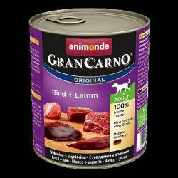800g Animonda GranCarno Adult (marha,bárány) konzerv - Felnőtt kutyák részére