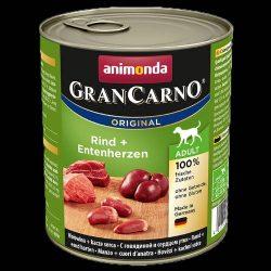800g Animonda GranCarno Adult (marha,kacsaszív) konzerv - Felnőtt kutyák részére