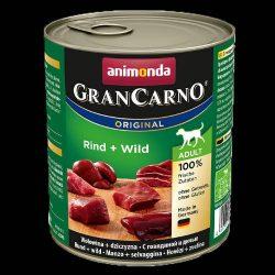 800g Animonda GranCarno Adult (marha,vad) konzerv - Felnőtt kutyák részére