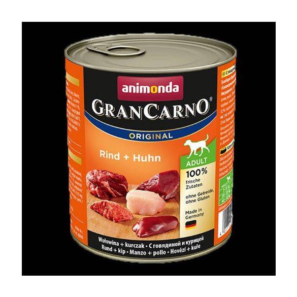800 g Animonda GranCarno Adult (marha,csirke) konzerv - Felnőtt kutyák részére